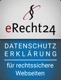 E-Recht24 Siegel Datenschutz